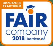 """Blackeight darf sich auch 2018 als """"Fair Company"""" bezeichnen."""